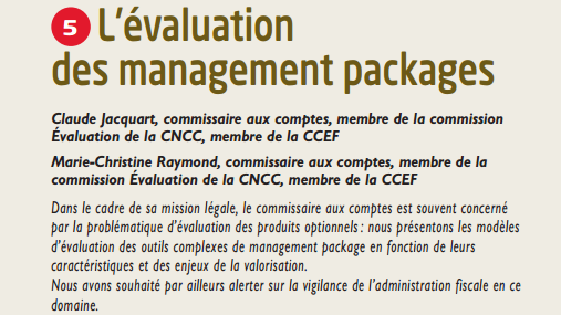 L'évaluation des management packages